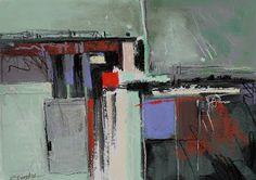 Carol Engles Art: Portland Corner Five, abstract painting by Carol Engles