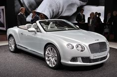 2012 Bentley Continental GT Convertible in Pearlescent White  OMGOSH!!!    OH YEAH BABY!!!  LOL