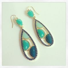 NEW:  When in Rome Beaded Droplet Earring $16.50 Free US Shipping www.popofchic.com