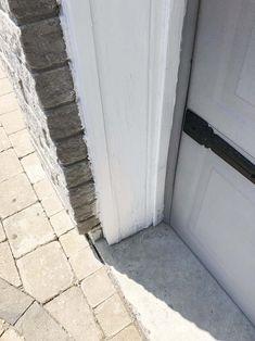 after PEEL STOP® PLUS Garage Door Trim, Garage Door Paint, Garage Door Styles, Wood Exterior Door, Exterior Paint, Garage Doors, Painting Trim, House Painting, Diy Painting
