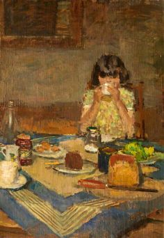 ruskin spear(1911–90), the tea table. oil on canvas, 63 x 43 cm. merthyr tydfil museums service, uk http://www.bbc.co.uk/arts/yourpaintings/paintings/the-tea-table-153547