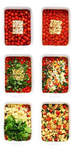 Pasta Recipes, New Recipes, Vegetarian Recipes, Dinner Recipes, Cooking Recipes, Favorite Recipes, Healthy Recipes, Recipies, Feta Pasta