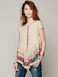 Free People FP New Romantics Pinnacle Mesh Top at Free People Clothing Boutique