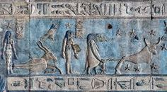 Hieroglyphic-carvings-apaintings-on-the-interior-walls-of-an-ancient-egyptian-temple-in-Dendera