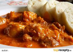 Czech Recipes, Ethnic Recipes, Chana Masala, Chili, Food And Drink, Soup, Beef, Czech Republic, Fine Dining