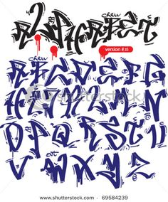 graffiti vector alphabet hip-hop urban slyle