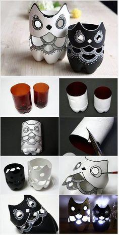 Luminárias com garrafa pet: