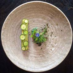 Repost by @cookniche - Zucchini Carpaccio Bitter Green - beautiful dish by…
