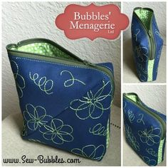 Bendy bag, made from the pattern and tutorial in the Craftsy class Zip it Up!  Love this pattern!