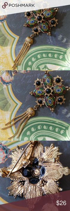 LJM antique brooch Estate find! Wonderful antique brooch from design house LJM.  Overall very good condition considering its age. Appropriate signs of wear, but I adore that about antique jewelry.  🌹I never clean my antique or vintage pieces to retain value🌹the choice is yours. Victorian/Edwardian LJM Jewelry Brooches