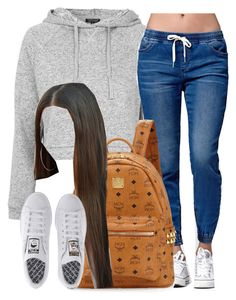 """""""School """" by trillest-queen ❤ liked on Polyvore featuring Topshop, Bullhead Denim Co., MCM and adidas"""