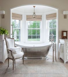 A silver soaking tub for some elegant glam.