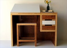 Love this modern drawing desk.
