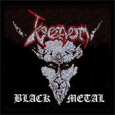 Venom Black Metal Woven Patch