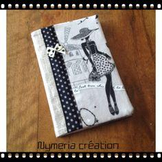 """Carnet de sac rétro """"la parisienne"""" en lin lamé argent n°3 : Carnets, agendas par nymeria-creation"""