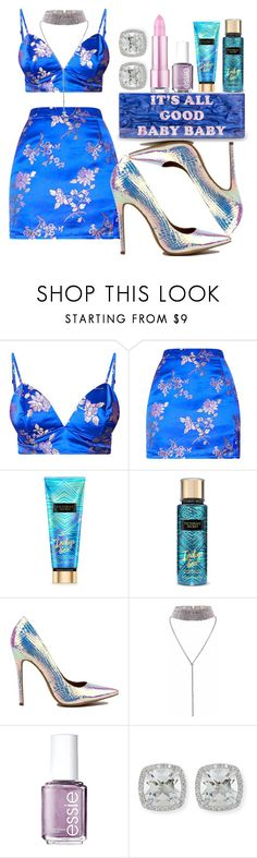 """Touch my body - Mariah Carey"" by annabidel ❤ liked on Polyvore featuring Victoria's Secret, Essie and Frederic Sage"