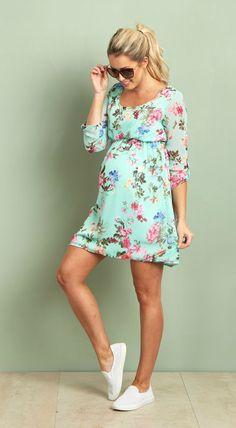 Floral maternity dress,Plus size evening dress,party Baby shower,8-24 belt 13