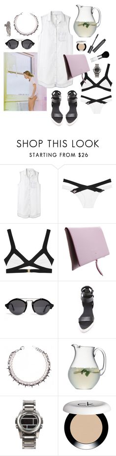 """""""Untitled #1547"""" by doxophobia ❤ liked on Polyvore featuring rag & bone/JEAN, Agent Provocateur, Rochas, Illesteva, Alexander Wang, Barneys New York, LSA International, Witchery, Nixon and CK One"""