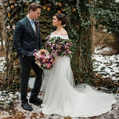 Dreaming of this gorgeous bridal look ✨ A fresh floral cape created by paired with the elegant off the shoulder Lauren gown. Karen Willis Holmes, Lace Wedding, Wedding Dresses, Bridal Looks, Off The Shoulder, Cape, Pairs, Gowns, Fresh