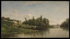 River Scene by Charles-François Daubigny  Published 1859