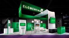 Elemental Technologies custom rental exhibit @ NAB Show 2014. Design and fabrication by ASTOUND.