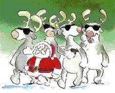 Dessin Humour Père Noël. Dessins rigolos insolites sur le Père Noël qui fait sa…