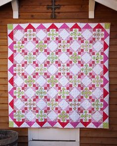 Christmas Candy quilt, pattern by Anita Peluso, Bloomin Workshop; Riley Blake fabric by adrian