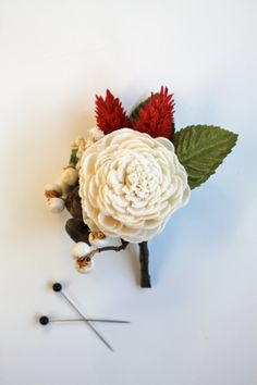 Indian Summer Sola Boutonniere