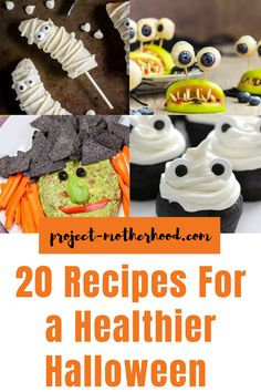 Healthy Halloween Recipes: While healthy and Halloween aren't two words that usually go together, there's no reason you can't change that up. With these recipes that I am sharing with you today, you'll be shocked that you CAN have a Healthier Halloween. #halloween #halloweenrecipes #healthyeating