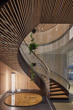The meeting place: 1 Martin Place, Sydney by Siren Design. architecture The meeting place: 1 Martin Place, Sydney Home Stairs Design, Modern House Design, Home Interior Design, Staircase Design Modern, Stair Design, Mansion Interior, Interior Office, Modern Houses, Contemporary Design