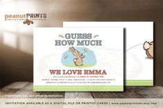 Guess How Much Birthday Party Invitation by PeanutPRINTS4u