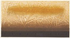Gold drops fall, fall, all arund  10 x 18cm  copperplate print with chine colle'( etching)   HAYASHI Takahiko 2012