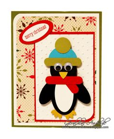 Mafer's Creations: PENGUIN CARD (CHRISTMAS 2010)