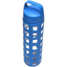 Ello Pure BPA-Free Glass Water Bottle with Lid, 20 oz, Blue
