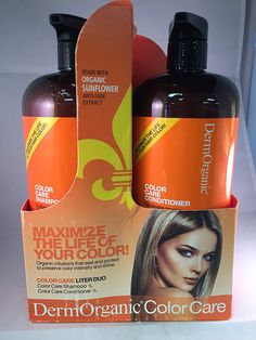 Dermorganic Sulfate Free Color Care Shampoo and Conditioner duo Liter 33.8 fl oz ** Read more reviews of the product by visiting the link on the image.