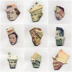 Origami money hats