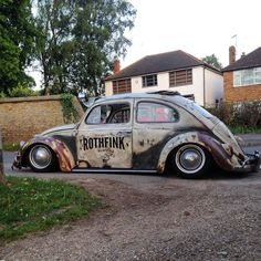 The old fashion (car) *. Custom Vw Bug, Custom Cars, Vw Rat Rod, Rat Rods, Combi Wv, Kdf Wagen, Hot Vw, Vw Classic, Vw Vintage