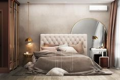 Elegant bedroom for blogger Varvara. Join us!!