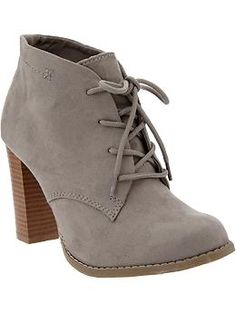 God bless Old Navy for their cheaper version of EVERYTHING. Women's Faux-Suede Heeled Oxfords