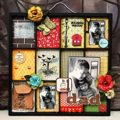 Try this using the backs of playing cards,book pges.,craft paper for background;Use frame with multi sections (Dollar General)