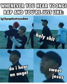 Suga's speaking voice literally melts my X chromosomes... <------- lol wtf. but namjoons face tho