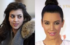 30 Shocking Photos of Hot Celebrities Without Makeup or Photoshop. Kim Kardashian.  I'm pretty sure she has had some surgery