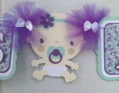 Lovely Itu0027s A Girl Banner, Baby Shower Banner, Baby Shower Decorations, Purple And  Teal