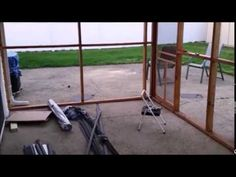 Just in case hubby agrees to this. :) Building A Screened In Porch Under An Existing Deck. - YouTube