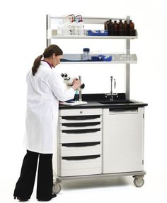 JUST THINK OF ALL THOSE PRE-CONFIGURATIONS.....yes, Metro's Starsys Laboratory Mobile WorkCenters are ready to roll to a space near you!  Available in double or triple wide variants with features that include a sink and faucet, overhead shelves, utility chases, closed overhead storage, your choice of counter top material and pull colors.