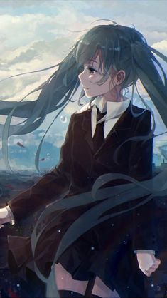 anime girl art hatsune miku vocaloid