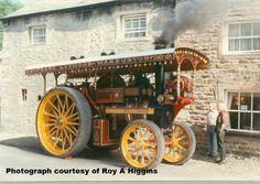 Steam engine outside of The Hark to Bounty at Slaidburn. Photograph Roy A Higgins.