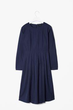 COS Cotton-mix pleat dress