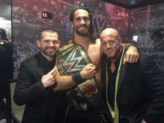 Seth Rollins with J&J security at WM31
