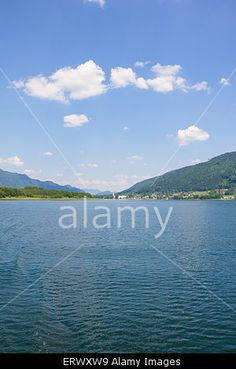 #View To #Ossiach From #Ship At #Lake Ossiach @alamy #alamy #ktr15 @carinzia #carinthia #austria #landscape #nature #summer #spring #season #travel #vacation #holidays #sightseeing #mountains #outdoor #leisure #bluesky #stock #photo #portfolio #download #hires #royaltyfree
